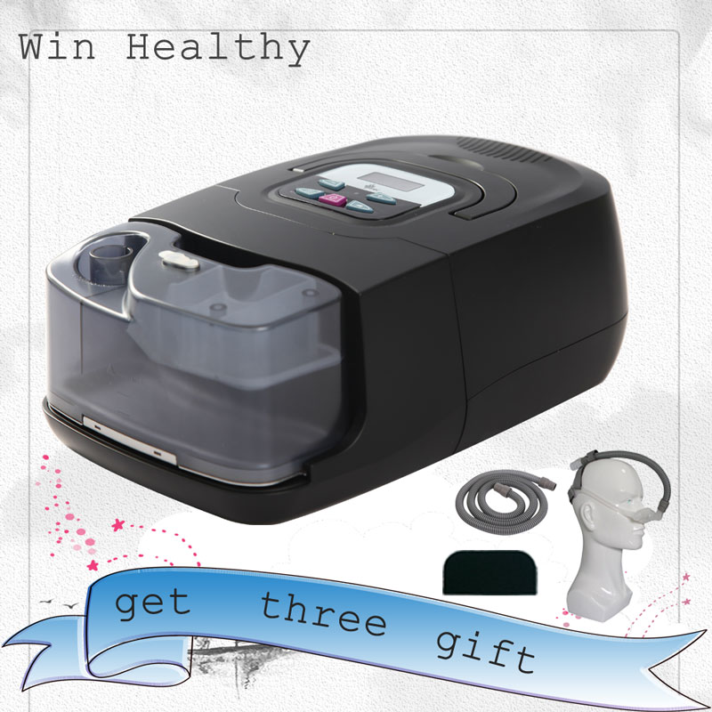 Win Healthy BMC GI Auto CPAP Machine Smart Medical Health Care Beauty Sleep Ventilator Mask Snoring Apnea Therapy with Bags Tube