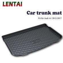 цена на EALEN 1PC rear trunk Cargo mat For Audi A1 2012 2013 2014 2015 2016 2017 Boot Liner Tray Waterproof Anti-slip mat Accessories