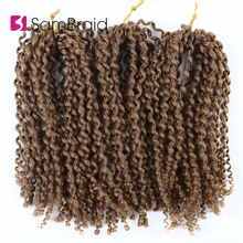 SAMBRAID Kinky Curly Hair Crochet Braids 8 Inch Synthetic Br