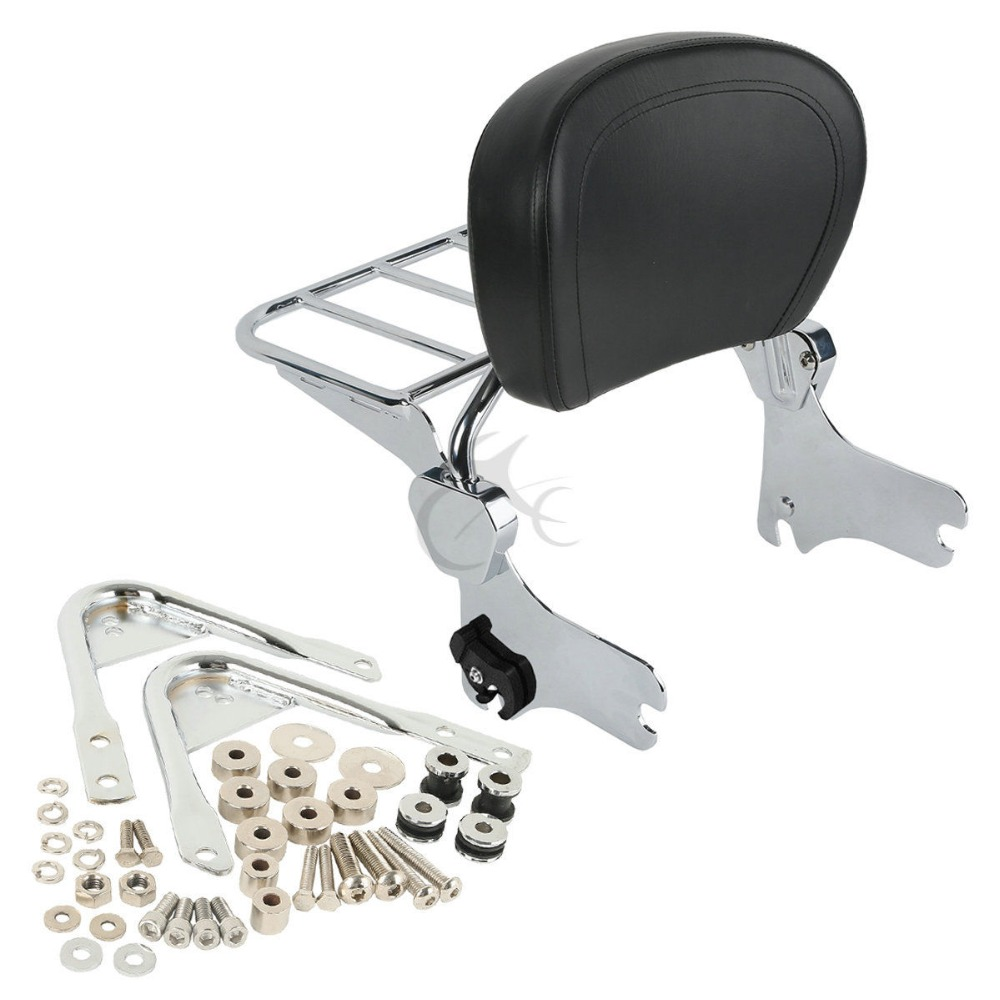 Backrest Sissy Bar Luggage Rack Docking Hardware Kits For Harley Touring Road Glide 97 08 in Covers Ornamental Mouldings from Automobiles Motorcycles