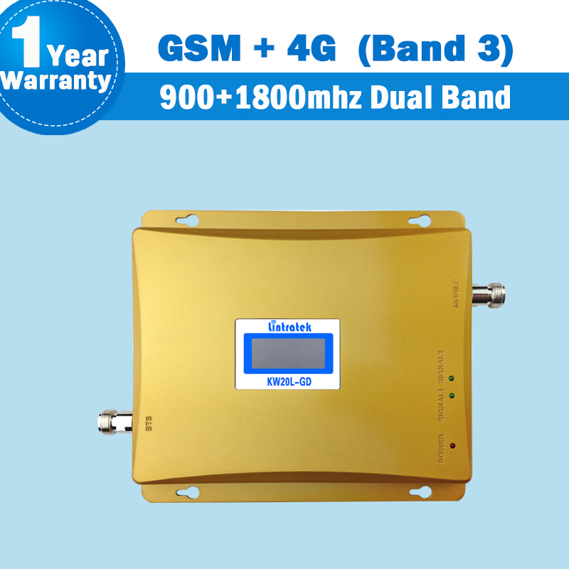 LCD Display GSM 900 1800 Band 3 Dual Band Cellphone Signal Amplifier 900mhz DCS 1800mhz Mobile