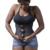 Trainer cintura underbust corset body shaper látex de borracha zipper slimming cincher!