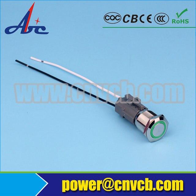 SET118 19mm two wiring harness waterproof LED light pilot lamp ...