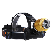 PANYUE 2000LMUltra Bright Headlamp T6 LED Headlight 3 mode Zoom Head lamp Rechargeable Forehead Light Use 2*18650 Battery стоимость