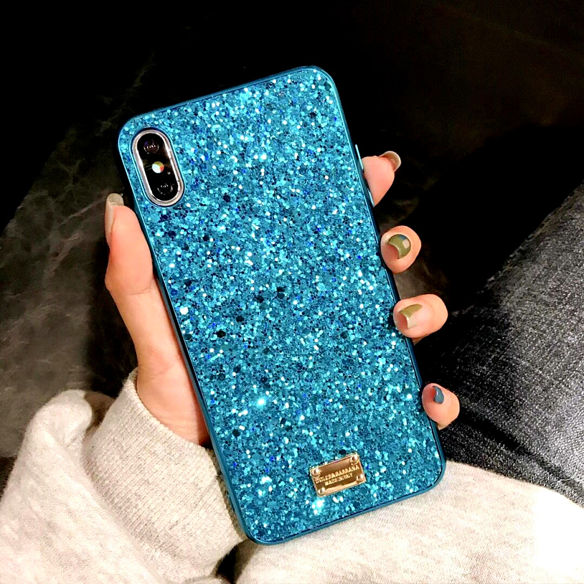 Luxury brand Bling Case For iphone 8 Plus 6s iphone X XS Max XR XS 10 Glitter 7plus Coque Cover For iphone 7 Plus  6 s Plus Case (7)