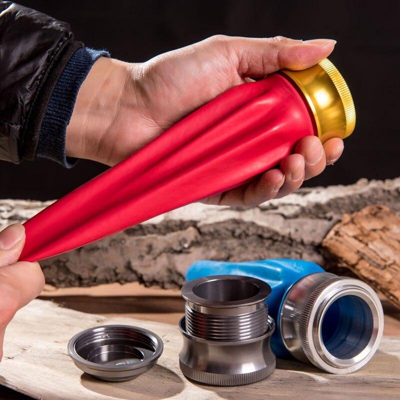 Outdoor Aluminium Legierung Spielzeug Schleuder, Leistungsstarke Tasche Schleuder, Ultra Jagd Schuss Schießen Katapult Kleine Werkzeug Zubehör