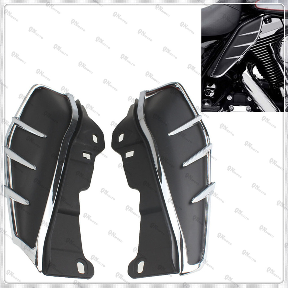 Motorcycle Mid-Frame Air Deflectors Trims For Harley Electra Glide Classic FLHTC 2009-2013 Road Glide Custom FLTRX  2010-2013 brand new mid frame air deflector trims for harley cvo limited road king electra glide street electra tri glide flhx 2009 2016