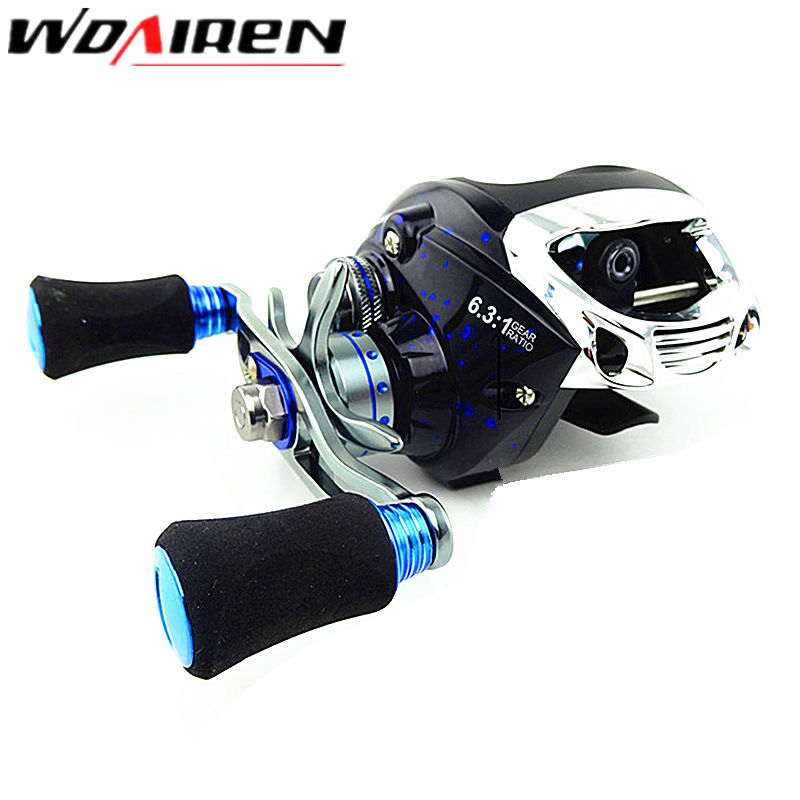 12+1BB Left Right Hand Bait Casting Fishing Reel 6.3:1 Baitcasting Reel Magnetic Brake System Fish Wheel Pesca LYW-013 smart baitcasting reel 6bb 6 2 1 right left hand reel molinete peche carretilha carretes pesca lure wheel fishing line winder