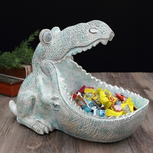 creative resin dinosaur statue Storage Box home decor crafts room decoration vintage parlor candy key boxes ornament figurines