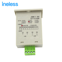 JDM11 6H Electronic Digital Counter Accumulator Accumulation Counting Power Memory 6 Bit AC220V Mechanical