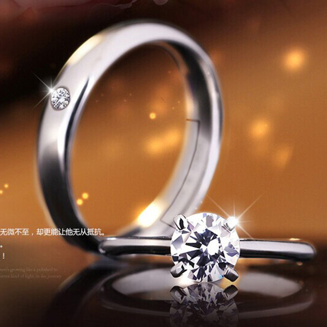 NEHZY Silver ring opening couple of female models wild fashion jewelry cute retro jewelry factory wholesale super flash