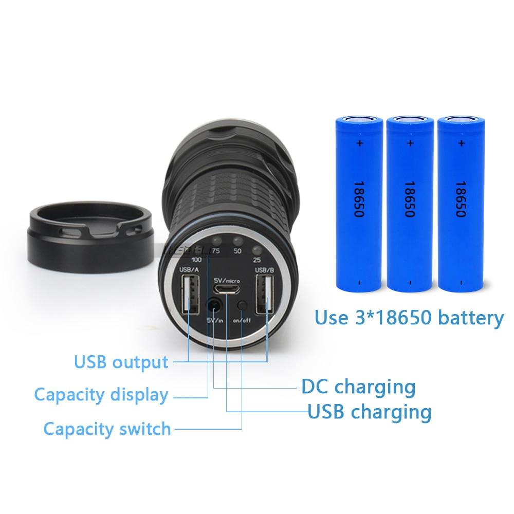 XHP70.2 самый мощный фонарик CREE XHP70.2 дальний охотничий фонарик 18650 usb внешний аккумулятор фонарь Водонепроницаемый фонарь e - 4