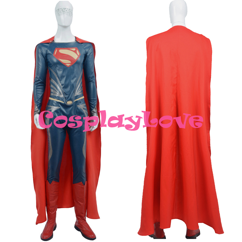 Новый изготовленный на заказ высококачественный Америка фильм человек стали Косплей Костюм Супермена для Хэллоуина Рождество комбинезон