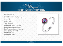 JewelryPalace Mystic Fire Rainbow Topazs Ring Promotion Hot Sale Round Pure 925 Sterling Silver Fine Jewelry Nice Gift For Women