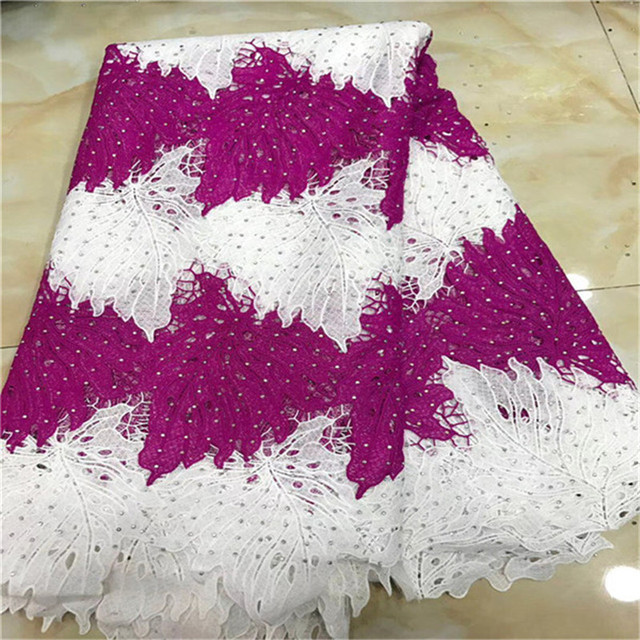 African Lace Fabric 2018 New Design French Mesh Lace Guipure Laces Fabric For Party Dress High Quality African Swiss Voile Lace
