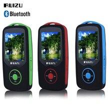 Precio de fábrica RUIZU X06 Reproductor de MP3 8 GB Bluetooth Deportes Reproductor de música MP3 1.8 Pulgadas 100 horas sin pérdidas de alta calidad grabadora de FM