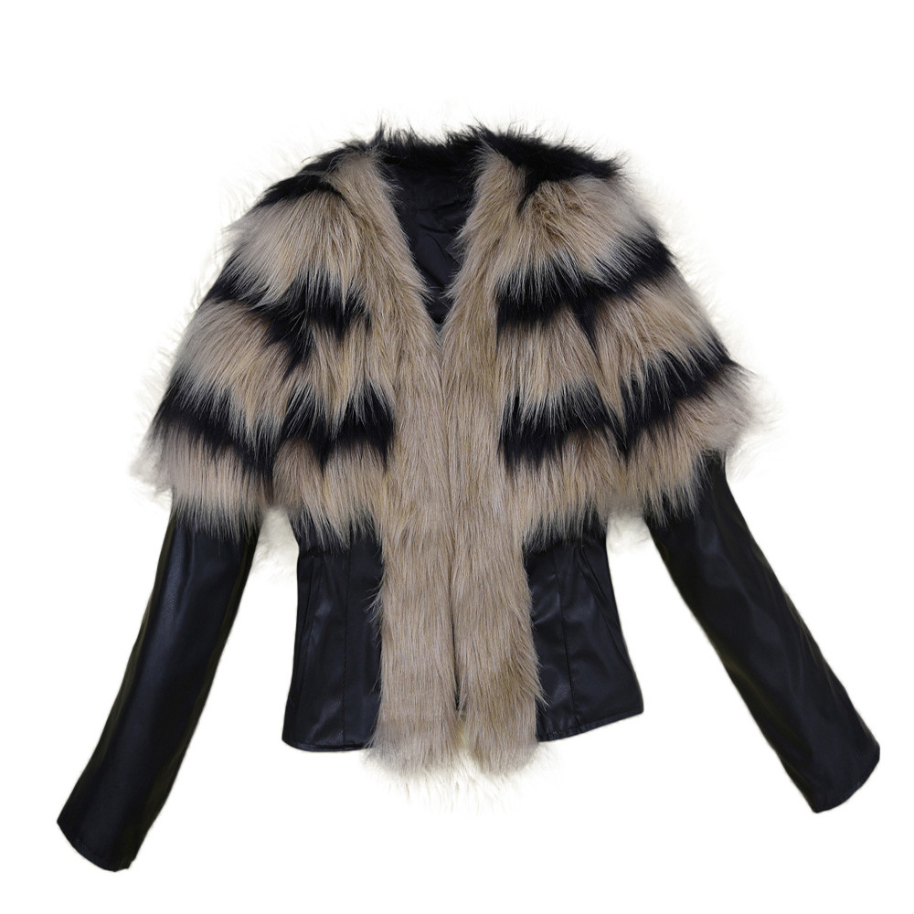 Popular Fur Leather Jacket-Buy Cheap Fur Leather Jacket lots from ...