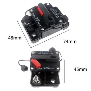 Disyuntor de 50-300A AMP, batería Dual IP67, impermeable, 12V, 24V, reinicio Manual de fusible, interruptor de circuito de coche 2