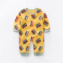 YiErYing Baby Rompers Long Sleeve Newborn Boy Girl Cartoon Magnetic tape Costume Playsuit Clothes kids Cute Clothing