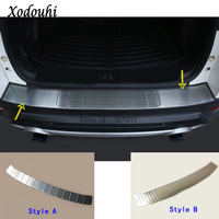 For Ford Kuga 2017 2018 2019 car cover Rear Bumper Trunk Threshold Door Sill Outer Protector Cover Trim Stainless Steel 1