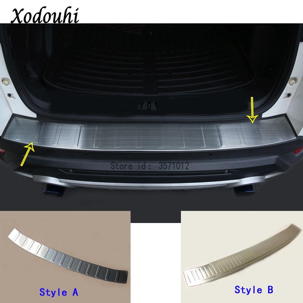 Pour Ford Kuga 2017 2018 2019 bâche de voiture pare-chocs arrière coffre seuil de porte seuil protecteur extérieur couvercle garniture acier inoxydable 1
