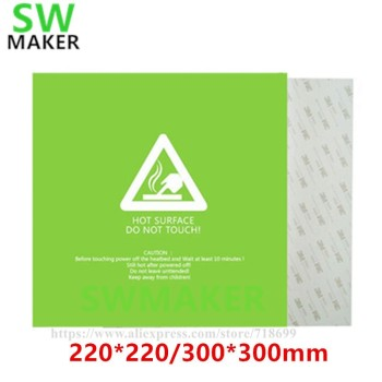 1pcs Heat Bed Sticker Hotbed Sheet tape green 220*220/300*300mm For Wanhao i3 Anet A8 A6 3D Printer Printing Build Plateform image