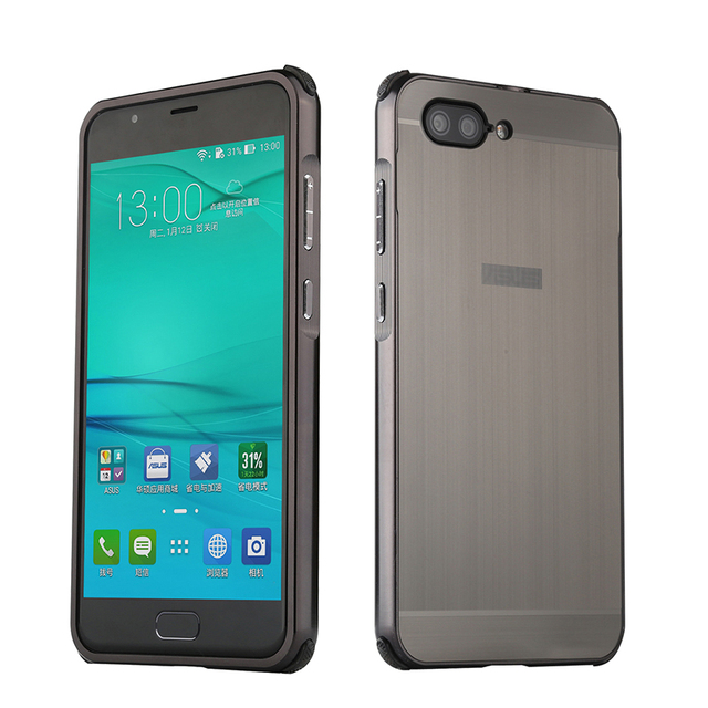 buy popular 71c72 4a666 US $4.59 8% OFF|For Asus Zenfone 4 Max ZC554KL Case Metal Frame+PC Brushed  Back Cover for Zenfone4 ZE554KL Zenfone 4 Max ZC520KL 5.2 inch Coque -in ...