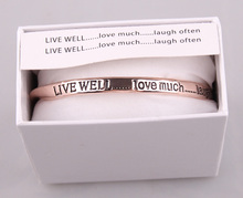 MOODPC Hot Sale Letter Bangle high quality Gift Jewelry alloy Bracelets & Bangles
