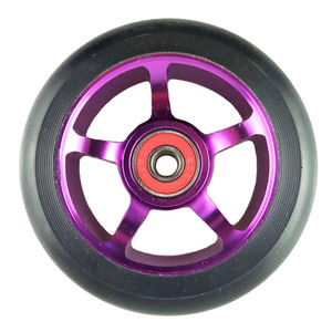 Image 5 - Rodas de patinete para scooter de 100mm, roda de cadeira de rodas de liga de alumínio, hub em 2 peças 88a, alta elasticidade, velocidade de precisão