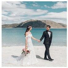 SoDigne Beach Lace Appliques Bride Dress Spaghetti Straps 2019 Wedding Dress White/ivory Wedding Dresses Custom made цена и фото