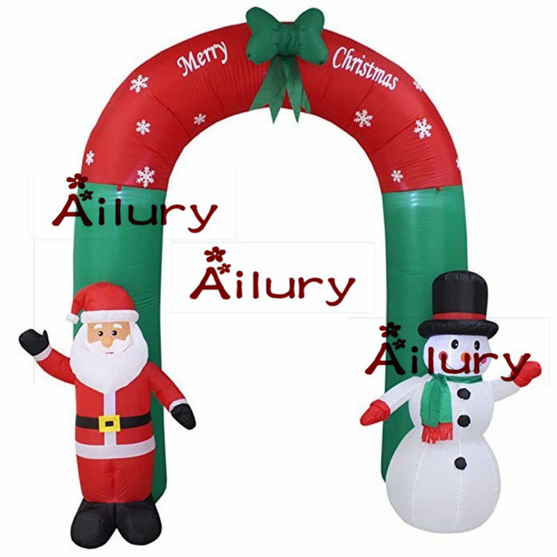 8ft Inflatable Santa Claus Snowman Arch Outdoor Christmas Decoration LED Lighted,garden supplies,new year party home shop yard8ft Inflatable Santa Claus Snowman Arch Outdoor Christmas Decoration LED Lighted,garden supplies,new year party home shop yard
