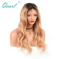 Qearl волос 150% плотность Человеческие волосы Синтетические волосы на кружеве Искусственные парики для черный Для женщин Ombre 1b/27 Блондинка Цве...