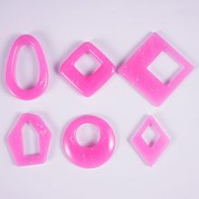 Silicone Acrylic Earring Necklace Pendant Mold Resin Casting Jewelry Making