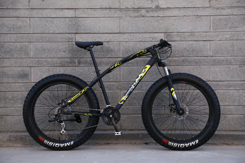 HTB1FF6abAyWBuNjy0Fpq6yssXXaH Running Leopard 7/21/24 Speed 26x4.0 Fat bike Mountain Bike Snow Bicycle Shock Suspension Fork Free delivery Russia bicycle