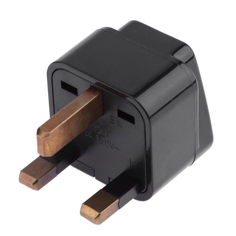 ALLOYSEED Universal Portable Travel Power Socket Plug 1 To 2 Outlet For UK/HK/Singapore Charging Splitter Plug Converter Adapter