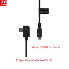 Zhiyun Crane 2 Gimbal Accessories Camera Control Cable Micro USB to ZW-Micro-002 for Canon 5D4