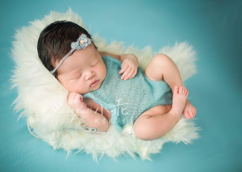 Newborn mohair romper photo props,Newborn Clothes Handknit baby tieback, baby overall set,,Crochet mohair clothes photo prop oasis mohair