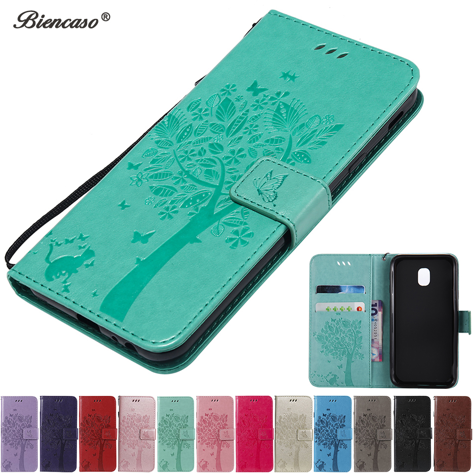 Magnetic Wallet Phone Case For Samsung Galaxy <font><b>J1</b></font> Ace <font><b>J1</b></font> <font><b>2016</b></font> J120 J3 J5 J7 2017 J330 J530 J730 J3 Pro J3110 Flip Card Slot Cover image