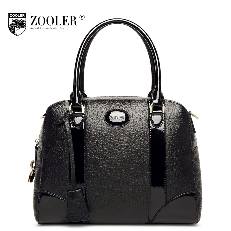 ZOOLER Black Women Shell Genuine Leather Handbag Fashion Ladies Patchwork Tote Bag Designer Handbags High Quality Messenger Bags high tech and fashion electric product shell plastic mold