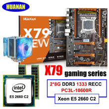 Neue ankunft HUANAN X79 deluxe motherboard CPU RAM set X79 LGA2011 motherboard Intel Xeon E5 2660 C2 RAM 16G (2*8G) DDR3 RECC