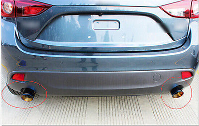 Steel Tail Pipe Exhaust Pipe Cover 2pcs For Mazda 3 AXELA M3 2014-2016 Hatchback steel tail pipe exhaust pipe cover 2pcs for mazda 3 axela m3 2014 2016 hatchback