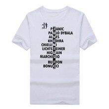2017 männer 2016/2017 Squad T-shirt Kurzarm T-shirt männer higuain buffon bonucci Pjanic Juventus Dybala W1106006