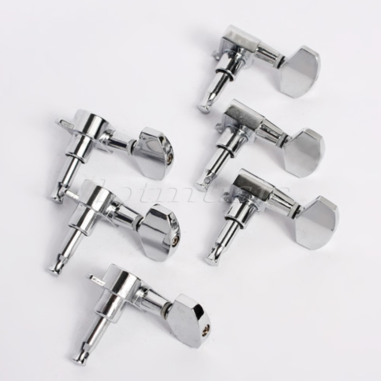 3L3R Chrome Guitar String Tuning Pegs Tuners Machine Heads for Guitar Replacement Parts 2x classical guitar 3l3r mica color rectangle button professional tuners