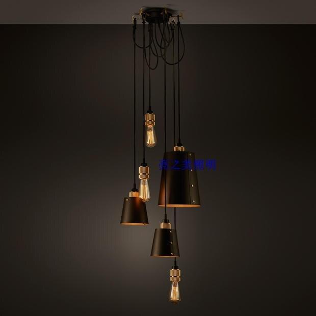 Современные светодиодные Buster удар металл подвесной светильник для лестницы обеденный Гостиная висит освещения