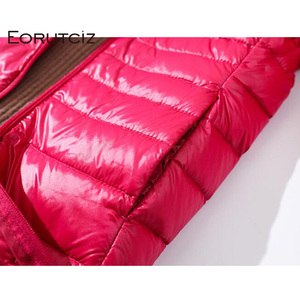 Image 5 - EORUTCIZ Winter Long Down Coat Women Plus Size 7XL Ultra Light Warm Hoodie Jacket Vintage Black Autumn Duck Down Coat LM171