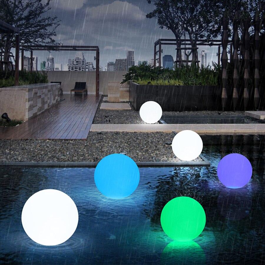 Controle remoto recarregável rgb colorido led bola