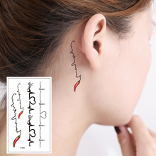 X-542 Cute sexy small lines behind the ears chest chest high quality temporary tattoo stickers detachable waterproof women