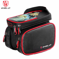 1pc Front Bicycle Bag Waterproof Cycling Bike Frame Tube Bag Double Pouch Cycling Bags For 6