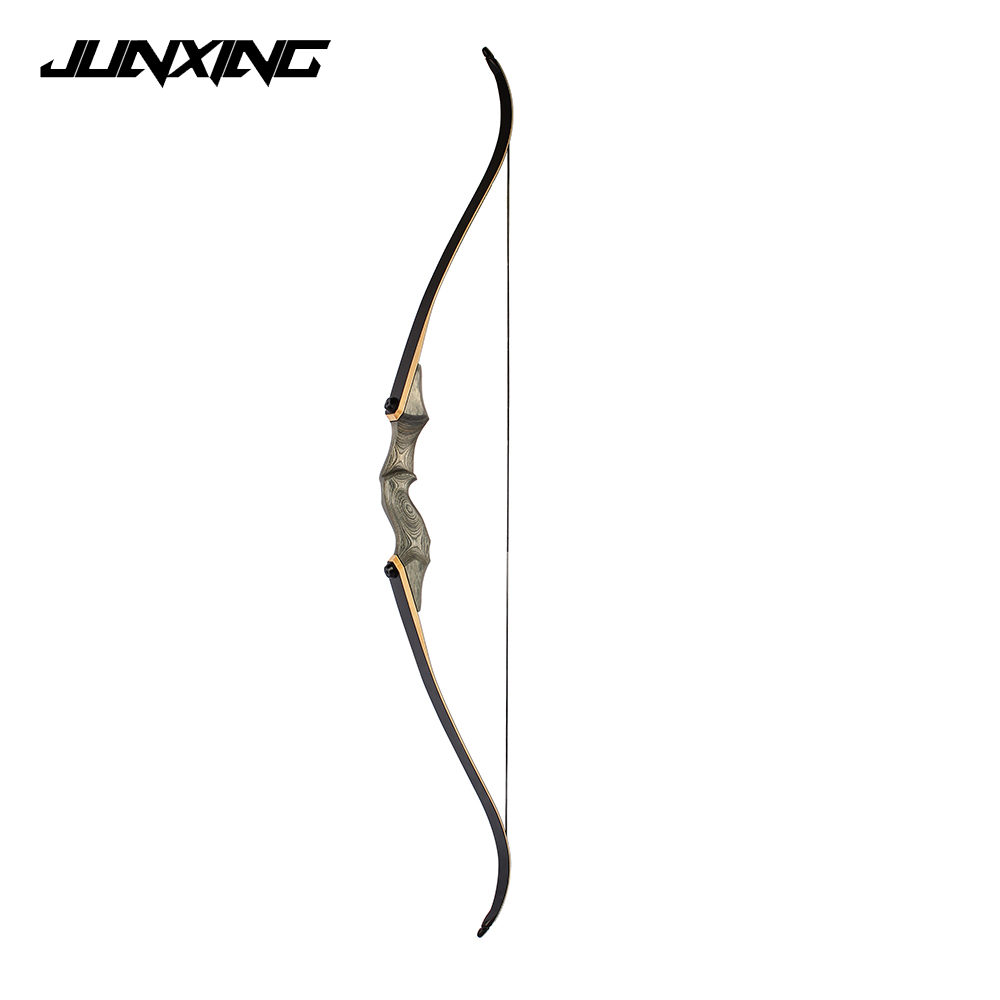 58 inches 30-55 LBS Recurve Bow Length Dark Green Riser for Right Hand User Archery Hunting Shooting 1pc 54 inches recurve bow length 30 50 lbs riser length 17 inch american hunting bow for archery sports hunting shooting
