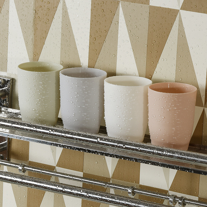 1 Pcs Plastic Travel Home Bathroom Simple Couple PP Material Tooth Mug Brush Holder Washing Tooth Cup Solid Wash Cup Tumblers